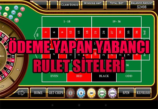 ödeme yapan yabancı rulet oynama siteleri, Ödeme yapan rulet siteleri, en güvenilir ödeme yapan yabancı casino siteleri