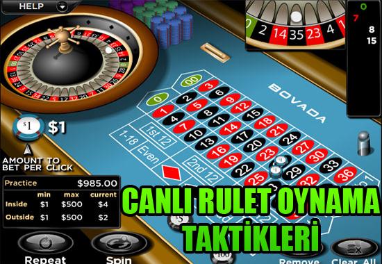 canlı rulet oynama yöntemi, Canlı rulet oynama tüyoları, canlı rulet oynama taktikleri