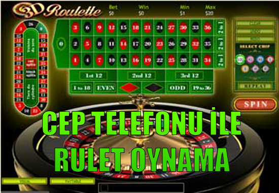 Cep telefonu ile canlı rulet oyna, Cep telefonu ile rulet oynama, mobil rulet uygulamaları